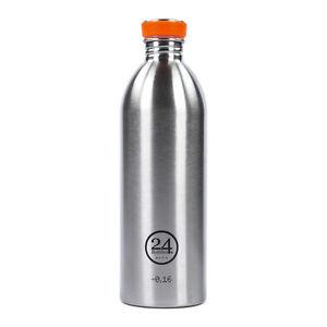 24 BOTTLES Design Trinkflasche Edelstahl NEU/OVP Wasserflasche Flasche Silber