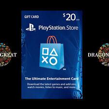 $20 PSN Digital Card - Playstation Network $20 USD PS4 PS3 - US Gift Card [US]
