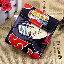PU short wallet w/ colorful printing of Naruto Shippuden Uchiha Itachi&red cloud