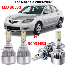 4PCS H7 9005 HB3 LED Headlight Bulbs Kit For Mazda 3 2009-2007 Hi/Low Beam 6000K