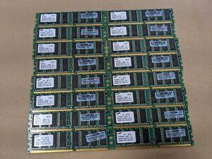Samsung (16) 512MB PC3200U-30331- Z DDR Memory (M368L6423FTN-CCC) Lot of 16