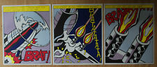 Roy Lichtenstein - Real Official Original - Triptych As I Opened Fire