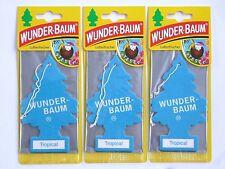 (1,77€/Einheit) 3x WUNDER-BAUM® Tropical Duft NEU Lufterfrischer Autoduft Scent