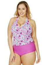 Tankini ♥Gr.46 Tankini-Set Bademode Neckholder-Tankini Bikini Badeanzug pink