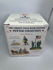 Liberty Falls Pewter Collection Ah271 Fireman Engine America Dalmation Figurines