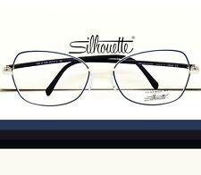 SILHOUETTE Eyeglasses Blue Silver 55-17-130  3506