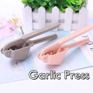 Metal Manual Garlic Press One Handed Crusher Kitchen Tool Gadget Home Pink Grey