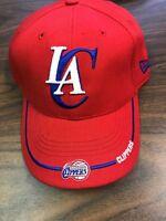 NBA RED New Era Los Angeles Clippers Adjustable Cap