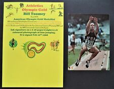 TOOMEY BILL AMERICA OLYMPIC GOLD MEDAL 1968 SIGNED PROMOPHOTO