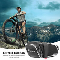 WEST BIKING Bike Saddle Bag Bicycle Waterproof Reflective Tail Rear Pouch Bag