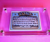 1972 Topps #156 Twins team, Senators & Twins Team Records NrMt NM