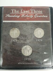 1928 29 30 Standing Liberty Quarter Set 90% Silver U.S. Mint