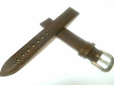 15 mm BRAUN UHRENARMBAND DORNSCHLIEßE ARMBAND KALBSLEDER UHRENBAND LEDER