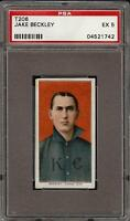 Rare 1909-11 T206 Jake Beckley Piedmont 350 Kansas City HOF PSA 5 EX