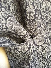 Navy blue Gray Jacket Baroque Motif Dressy 12 Elegant Lined Beautiful Pretty
