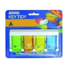 Plastic Key Tags With Rack  -4 Key -FREE POST