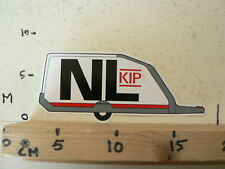 STICKER,DECAL NL CARAVAN AFBEELDING KIP CARAVANS RARE LARGE STICKER
