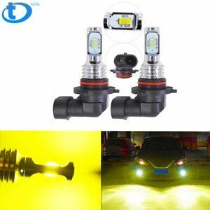 Pair 9006 HB4 3500K Yellow  LED 100W Super Bright Fog Driving Light Bulb Kit