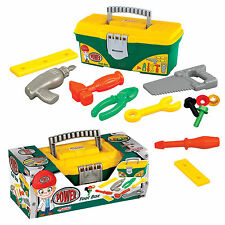 KIDS DIY TOOL SET - TOOL BOX - JUST LIKE DADDY'S - DEDE ** GREAT GIFT **