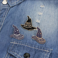 4PCS/Set Enamel Witch Hat Brooch Pin Shirt Collar Pin Women Badge JewelrODUS