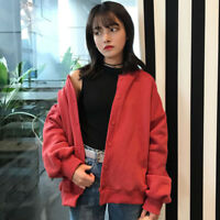 Women Autumn Cardigans Harajuku Loose Long Sleeves Round Neck Coat Sweater Tops