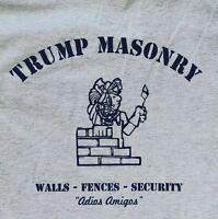 Donald Trump t shirt MAGA masonry hand printed conservative Sm-5Xlg ash