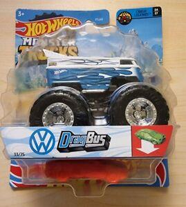 hot wheels Monster Trucks Volkswagen vw Drag bus Blue