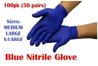 Disposable Black Blue Powder/Latex Free Rubber Gloves Nitrile PPE M L XL