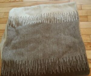 POTTERY BARN euro cushion cover WOOL COTTON wheat brown RUSTIC country 24x24