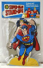 DC SUPER-HERO STAND-UPS 5 Pc 1977 MIP Shazam Wonder Woman Aquaman Superman Flash
