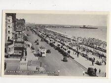 Kings Road Looking East Brighton Vintage Postcard 575a