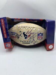 2002 Houston Texans Inaugural Season Commemorative Football Signed By 4 Players