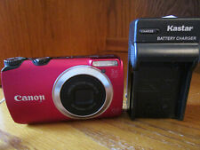 Canon A3300 16.0MP Digital Camera Red With Battery Charger SD Card