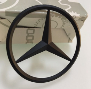 For Mercedes C250 W204 Emblem Sticker Star Rear Boot Trunk Badge Matte Black
