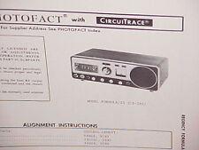 1971 REGENCY CB RADIO SERVICE SHOP MANUAL MODEL FORMULA / 23 (CB-292)