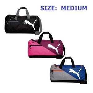 Puma Bag Fundamentals MEDIUM Sports Bag Football Black Blue Purple Gray   073395