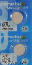 2 pc 370 Renata Watch Batteries SR920W FREE SHIP 0% MERCURY