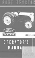 Ford 8N Tractor Owner Operator Maintenance Manual