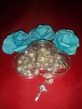 12PC- Crystal Color Rosaries (Rosarios de Cruz Color Transparente)