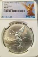 2018 MEXICO SILVER LIBERTAD ONZA NGC MS 69 FIRST RELEASES TREASURES OF MEXICO !