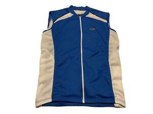 Louis Garneau Sleeveless Cycling Jersey Blue & White Size L Mens