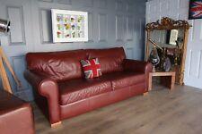 """Designer Multiyork 3 seater """"Imogen"""" brown leather sofa selling new for £3000"""