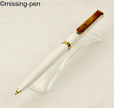 vintage Rotring Ballpoint Pen in White-Gold