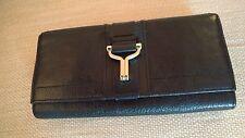 Cole Haan Women's Black Pebbled Leather  Clutch Wallet