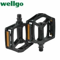 Wellgo B249 Cycling Pedal Aluminum Alloy Lightweight black DU Bearing Pedals MTB