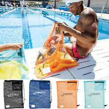FINIS Durable Nylon Mesh Drawstring Swim Gear Bag