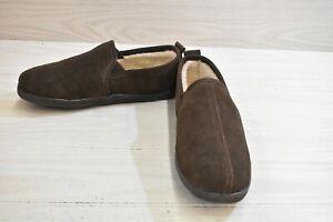 Minnetonka Romeo Moccasin Slippers, Men's Size 11 M, Chocolate MSRP $49.95