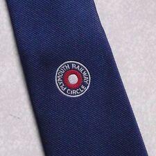 Plymouth FERROVIA CERCHIO Cravatta Vintage con trasporto Blu 1980s TOYE Kenning