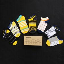 Onemix Men's Women Cotton Short Socks Athletic Unisex Socks 7 Pairs One Size