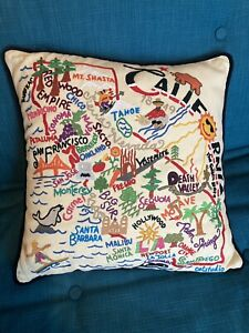 Catstudio California Hand embroidered, BNWT Pillow